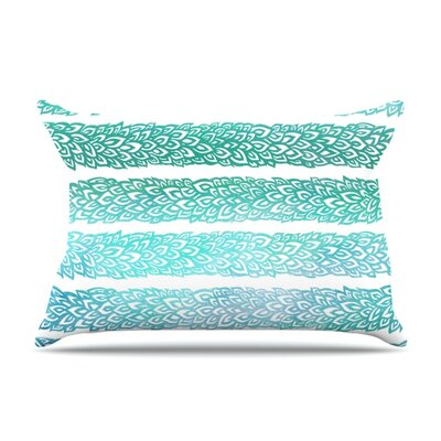 Leafs from Paradise II by Pom Graphic Design Featherweight Pillow Sham Size: King, Fabric: Woven Polyester