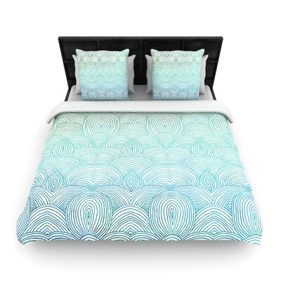Clouds in the Sky Woven Comforter Duvet Cover Size: King