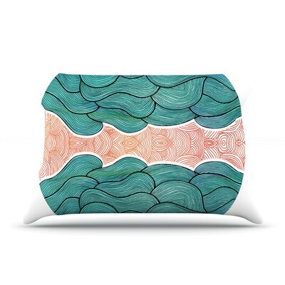 Ocean Flow Pillow Case Size: Standard