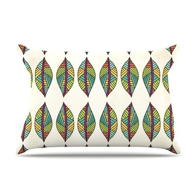 Tribal Leaves Pillow Case Size: King