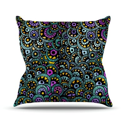 Peacock Tail Throw Pillow Size: 16 H x 16 W
