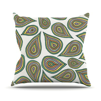 Its Raining Leafs Throw Pillow Size: 26