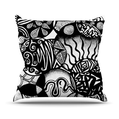 Circles and Life Throw Pillow Size: 18 H x 18 W