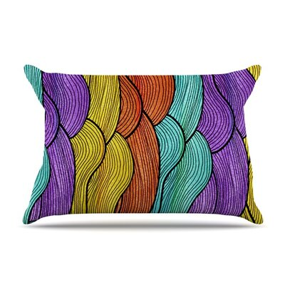 Textiles by Pom Graphic Design Featherweight Pillow Sham Size: King, Fabric: Woven Polyester