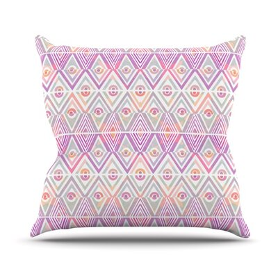 Throw Pillow Size: 16 H x 16 W, Color: Soft Petal Tribal
