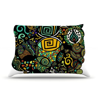 Multicolor Life Pillow Case Size: King