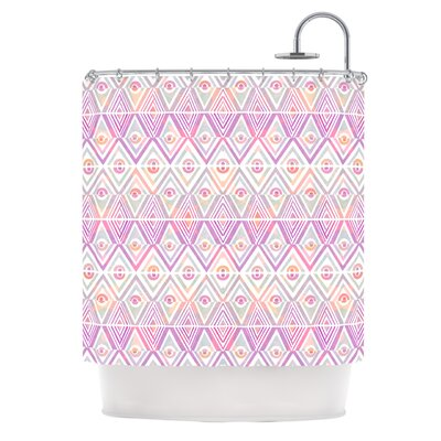 Shower Curtain Color: Soft Petal Tribal