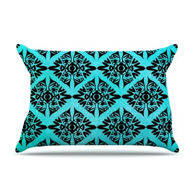Eye Symmetry Pattern by Pom Graphic Design Featherweight Pillow Sham Size: King, Fabric: Woven Polyester