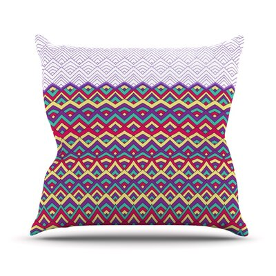 Throw Pillow Color: Purple, Size: 26 H x 26 W