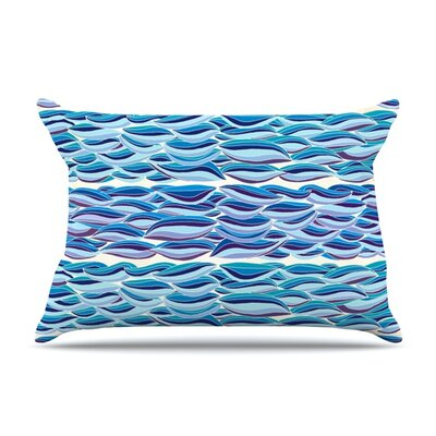 The High Sea by Pom Graphic Design Featherweight Pillow Sham Size: Queen, Fabric: Woven Polyester