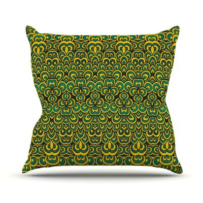 Throw Pillow Size: 16 H x 16 W, Color: Animal Temple II
