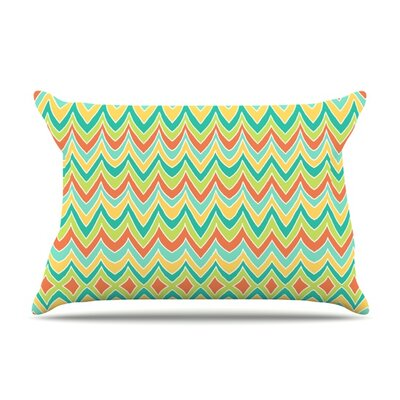 Bright and Bold by Pom Graphic Design Featherweight Pillow Sham Size: King, Fabric: Woven Polyester