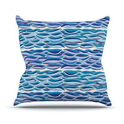 The High Sea Throw Pillow Size: 26