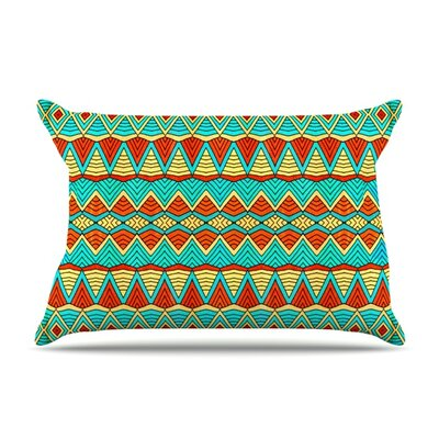 Tribal Soul by Pom Graphic Design Featherweight Pillow Sham Size: King, Fabric: Woven Polyester