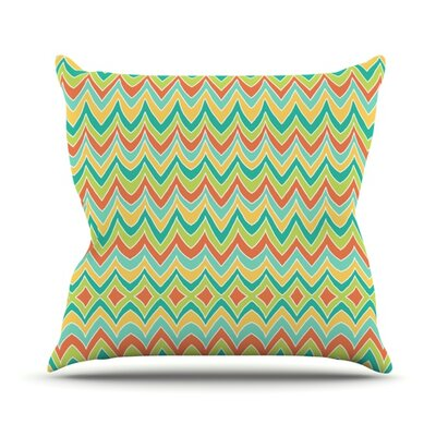 Bright and Bold Throw Pillow Size: 18 H x 18 W