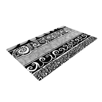 Tribal Evolution Black/White Area Rug Rug Size: 2 x 3