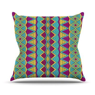 Throw Pillow Size: 16 H x 16 W, Color: Tribal Soul II