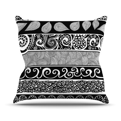 Tribal Evolution Throw Pillow Size: 18 H x 18 W