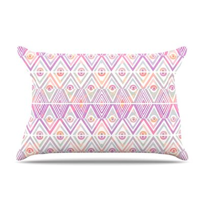 Pillow Case Size: Standard, Color: Soft Petal Tribal