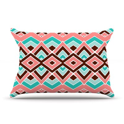 Pom Graphic Design Eclectic Peach Teal Featherweight Sham Size: King, Fabric: Woven Polyester