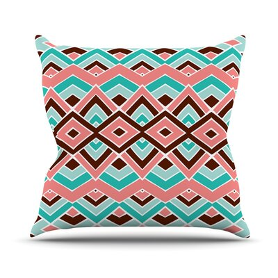 Eclectic Outdoor Throw Pillow Size: 16 H x 16 W x 3 D