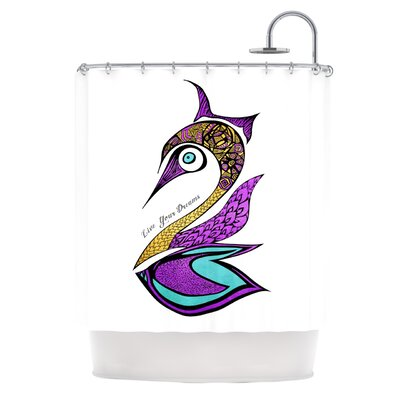 Dreams Swan Shower Curtain