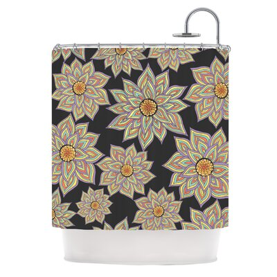 Shower Curtain Color: Floral Dance In The Dark