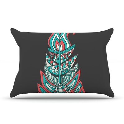 A Romantic Feather by Pom Graphic Design Featherweight Pillow Sham Size: King, Fabric: Woven Polyester