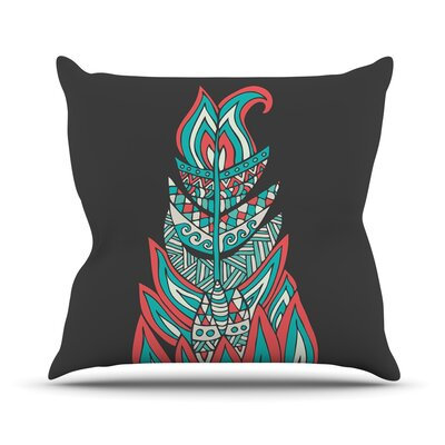 A Romantic Feather by Pom Graphic Throw Pillow Size: 18 H x 18 W x 3 D