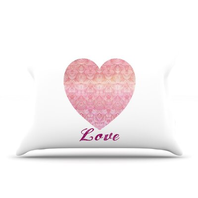 Pom Graphic Design Love Pillow Case