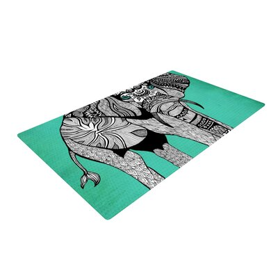 Elephant of Namibia Gray/Green Area Rug Rug Size: 2 x 3
