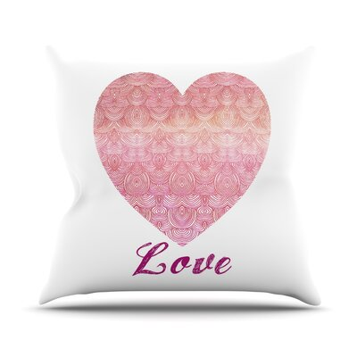 Love by Pom Graphic Throw Pillow Size: 16 H x 16 W x 3 D