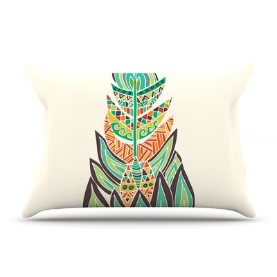 Tribal Feather by Pom Graphic Design Pillow Sham Size: King, Fabric: Cotton