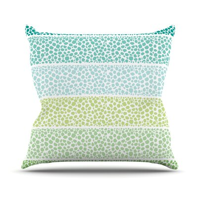 Zen Pebbles by Pom Graphic Throw Pillow Size: 16 H x 16 W x 3 D