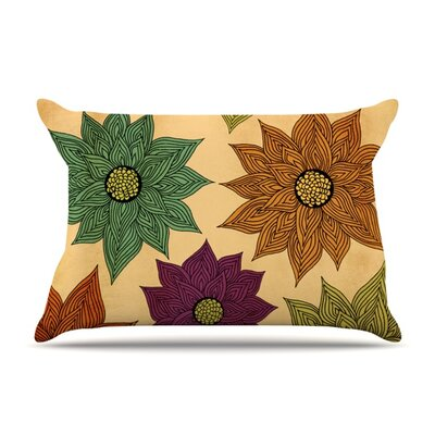 Color Me Floral by Pom Graphic Design Featherweight Pillow Sham Size: King, Fabric: Woven Polyester