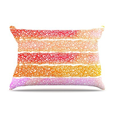 Leafs from Paradise by Pom Graphic Design Featherweight Pillow Sham Size: Queen, Fabric: Woven Polyester
