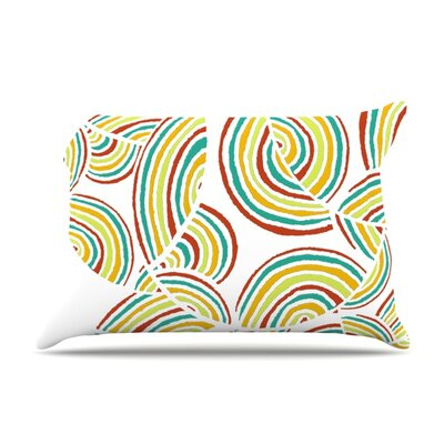 Rainbow Sky Pillow Case Size: Standard