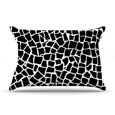 Project M British Mosaic Black Featherweight Sham Size: King, Color: Black, Fabric: Woven Polyester