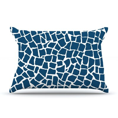 British Pillow Case Size: Standard, Color: Mosaic Navy