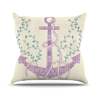 Throw Pillow Color: Tribal Nautica II, Size: 26 H x 26 W