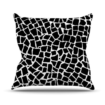British Throw Pillow Size: 18 H x 18 W, Color: Mosaic Black