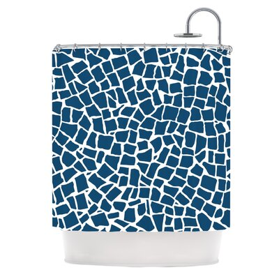 British Shower Curtain Color: Mosaic Navy