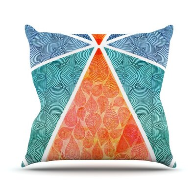 Pyramids of Giza Throw Pillow Size: 18 H x 18 W