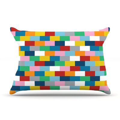 Bricks Pillow Case Size: Standard