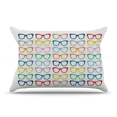 Rainbow Specs by Project M Featherweight Pillow Sham Size: Queen, Fabric: Woven Polyester