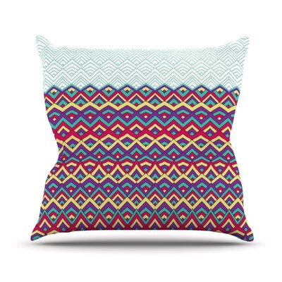 Throw Pillow Size: 16 H x 16 W, Color: Teal
