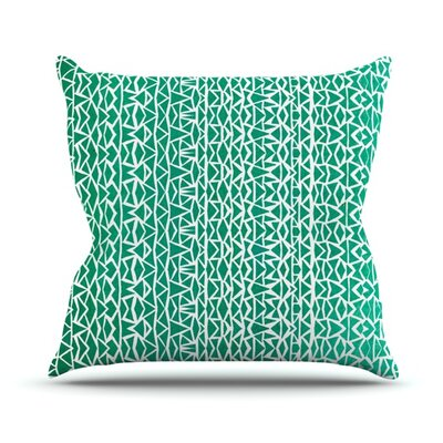 Throw Pillow Size: 16 H x 16 W, Color: Tribal Forest