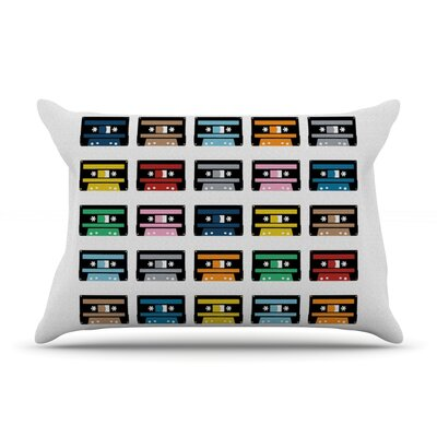 Rainbow Tapes Pillow Case Size: Standard