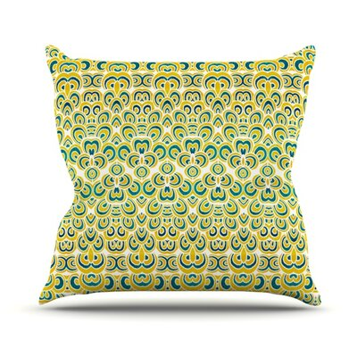 Throw Pillow Size: 16 H x 16 W, Color: Animal Temple