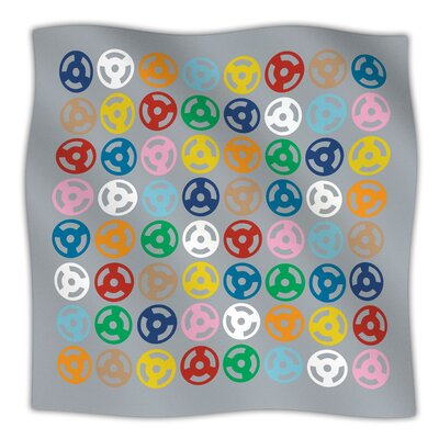 Roll with It On Grey Throw Blanket Size: 40 L x 30 W